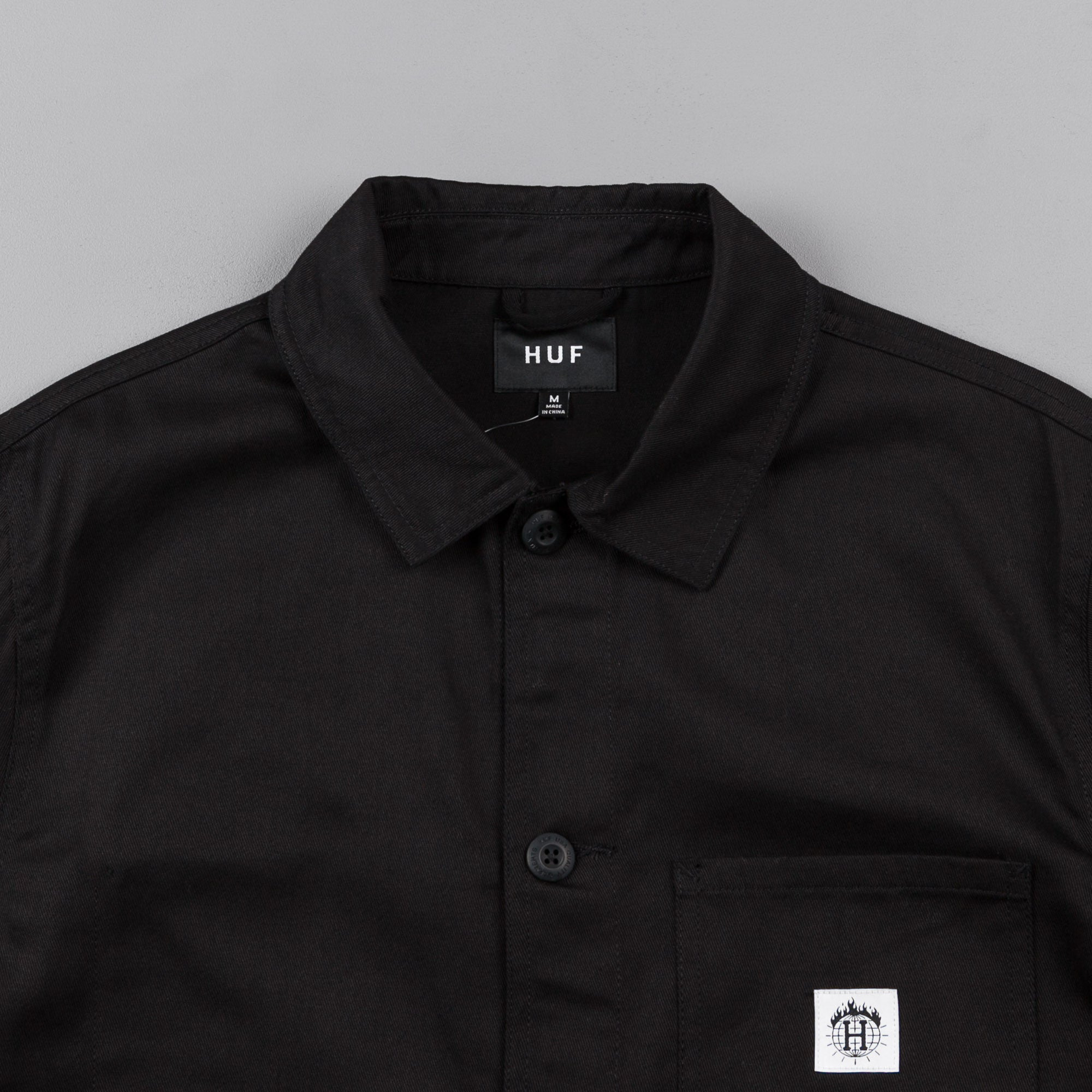HUF x Thrasher TDS Chore Jacket - Black