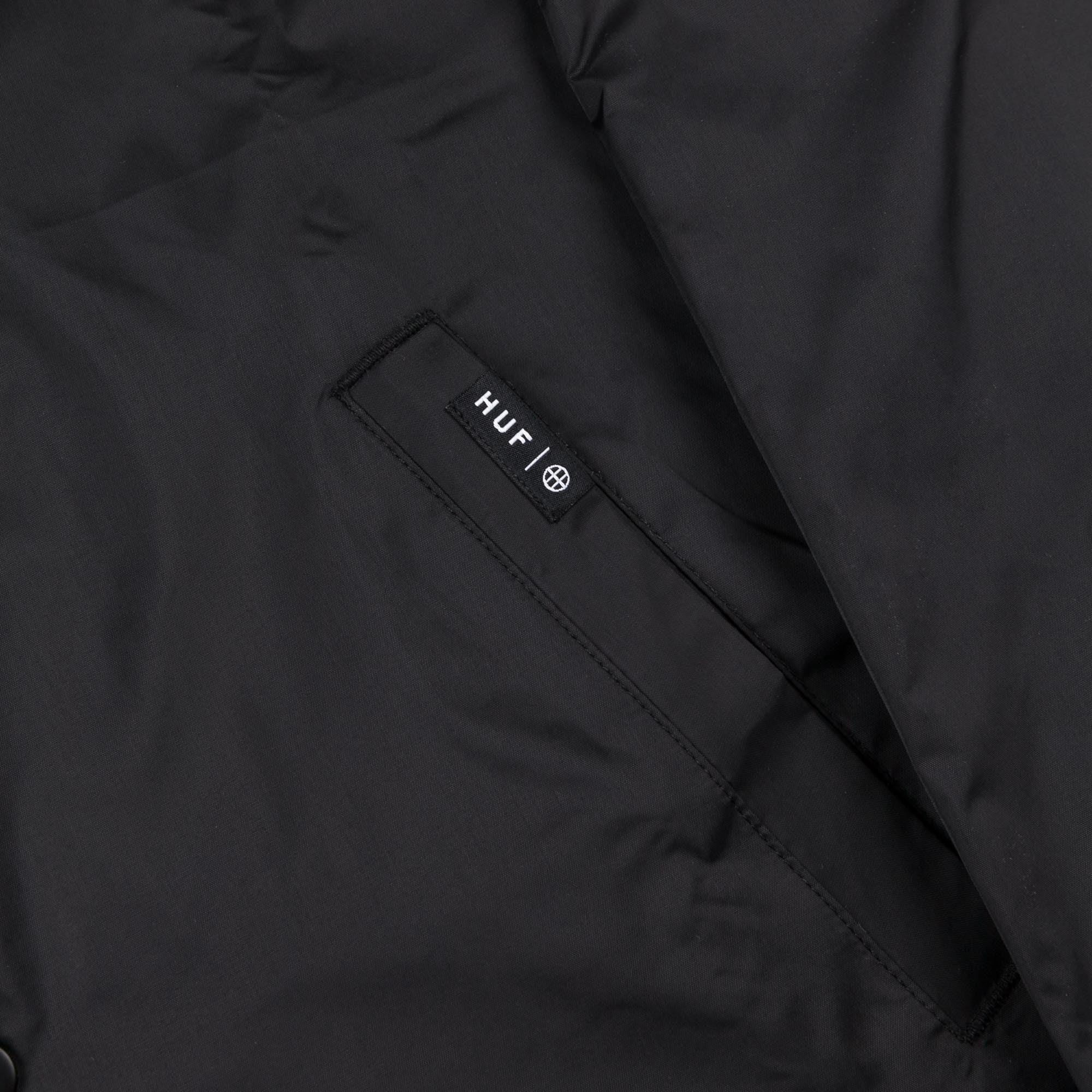 HUF x Thrasher TDS Coaches Jacket - Black