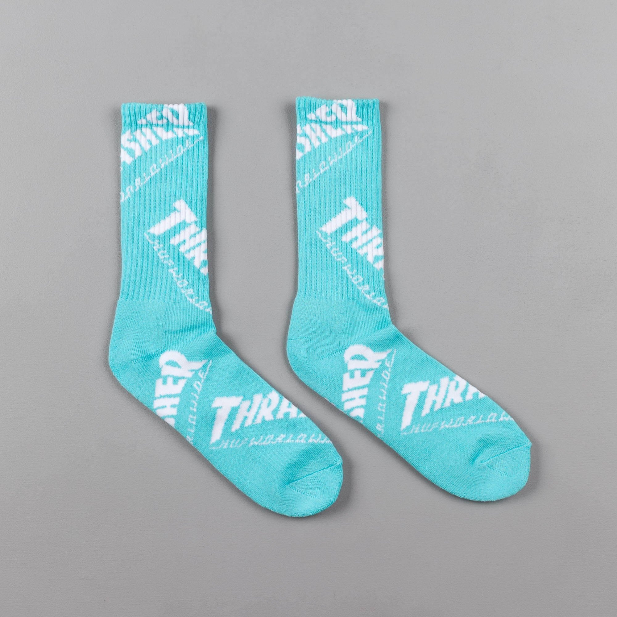 HUF x Thrasher TDS Crew Socks - Mint