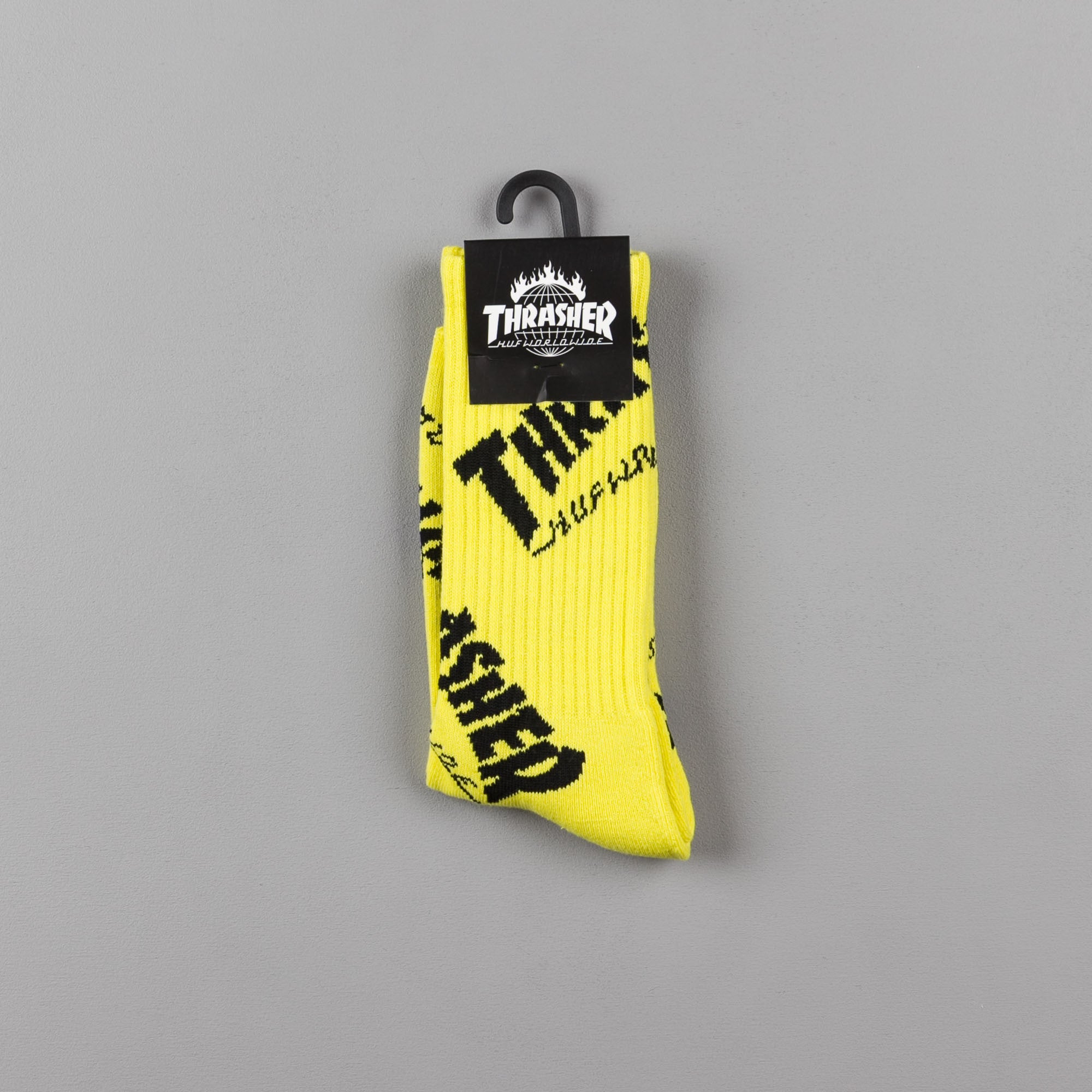 HUF x Thrasher TDS Crew Socks - Yellow
