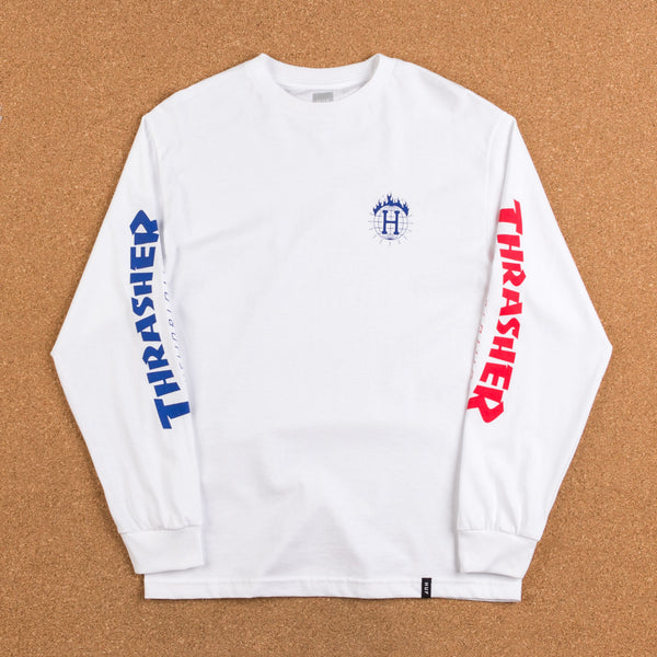 HUF x Thrasher TDS Long Sleeve T-Shirt - White