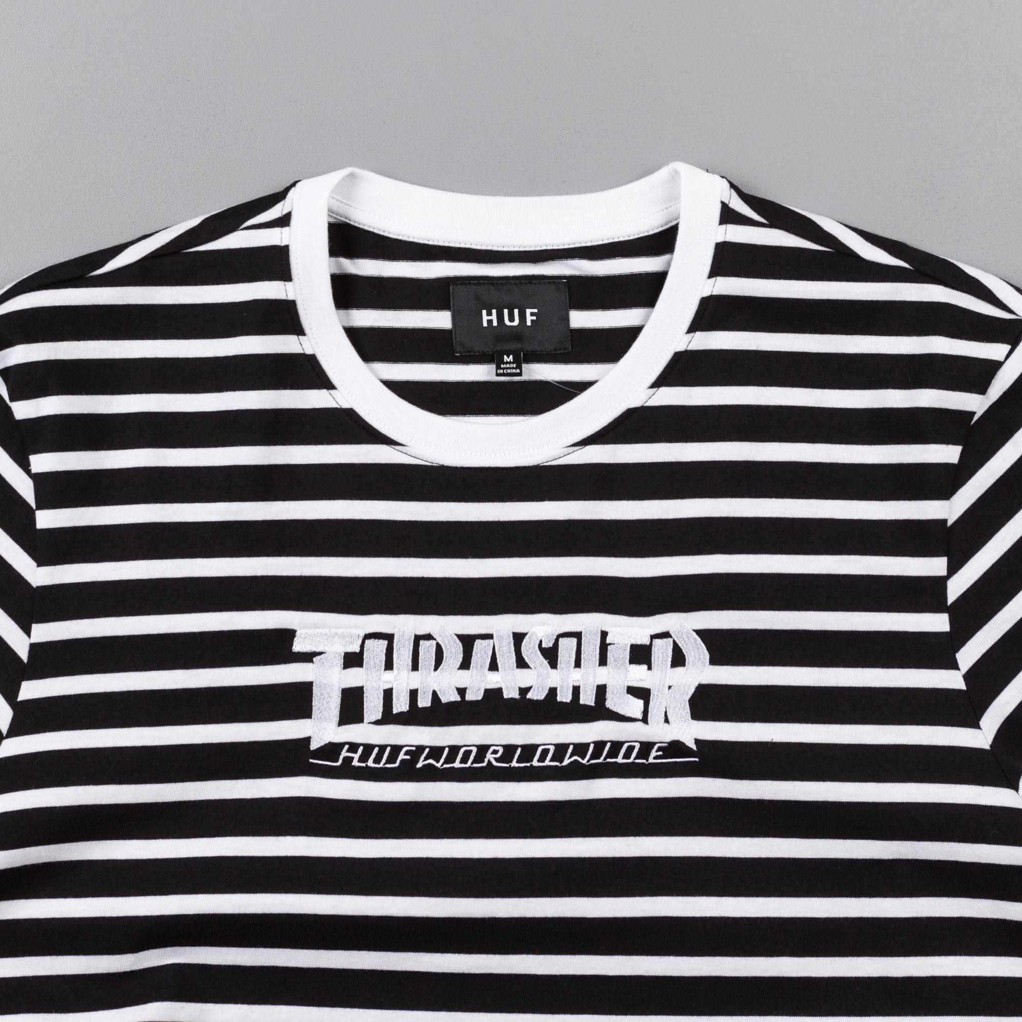 HUF x Thrasher TDS Stripe Crewneck Sweatshirt - Black