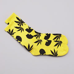 HUF X Wu-Tang Plantlife Socks Yellow