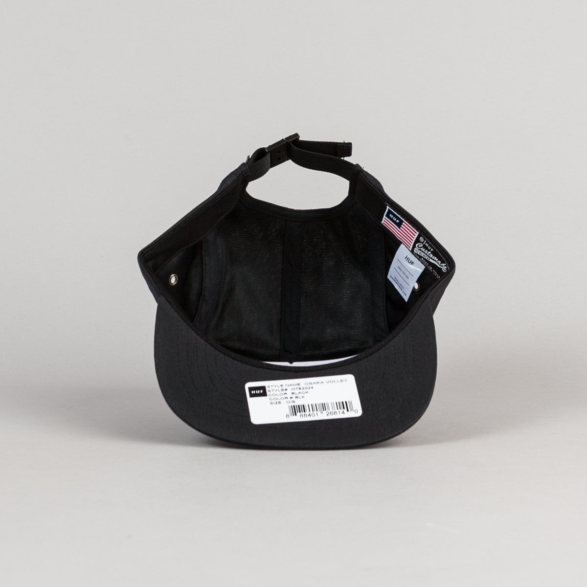 HUF Osaka Volley Cap - Black