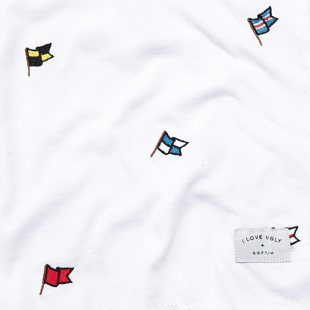 I Love Ugly Flag T Shirt White
