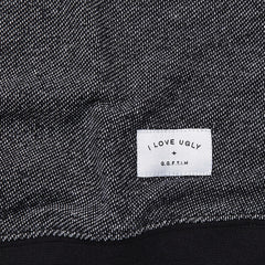 I Love Ugly Knit Crew Sweatshirt Speckle Black