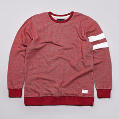 I Love Ugly Knit Crew Sweatshirt Speckle Red