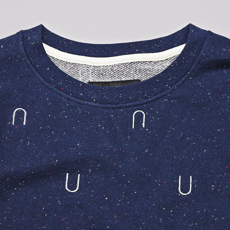 I Love Ugly Speckle Crew Sweatshirt Navy