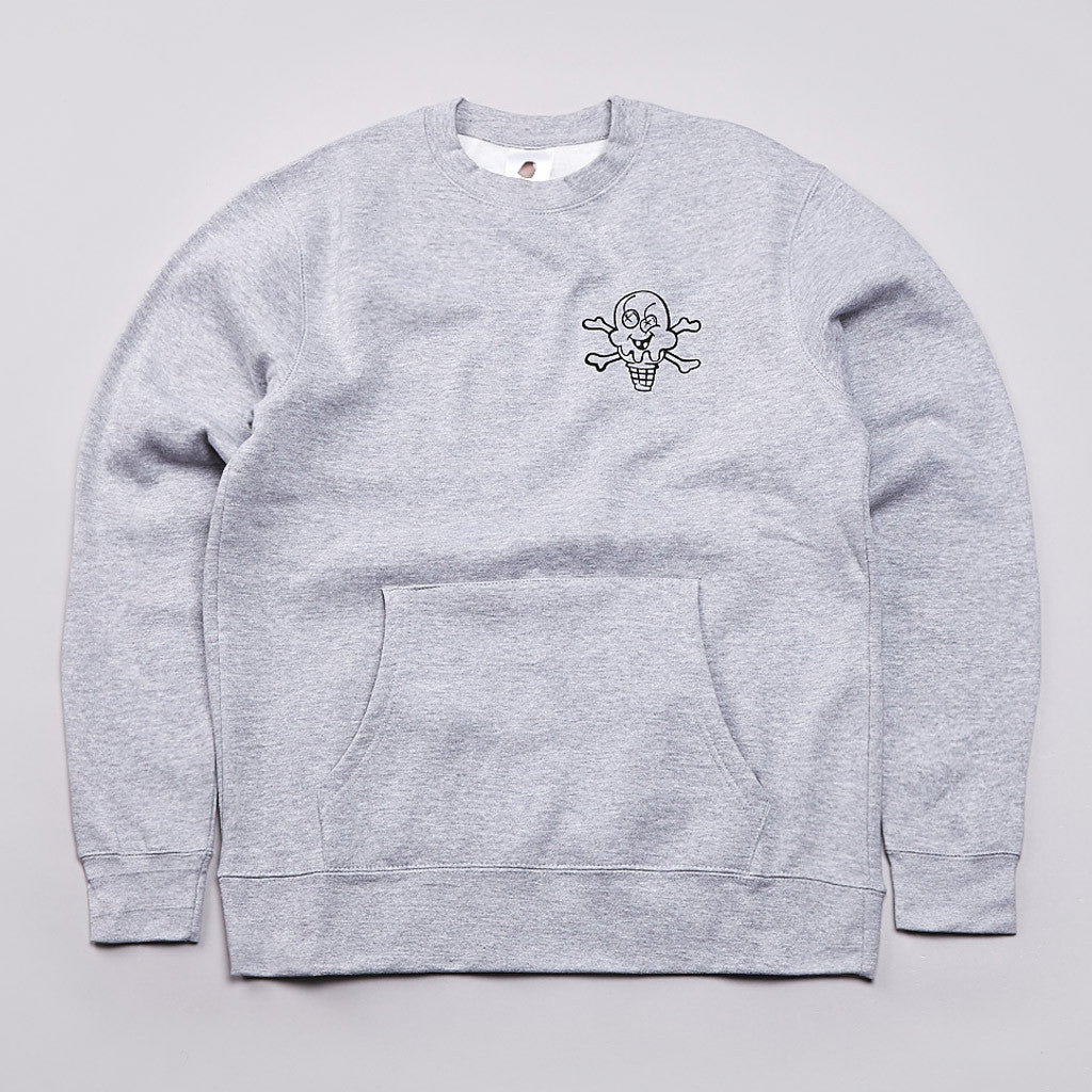 Ice Cream Mash Crew Neck Sweatshirt Heather Grey