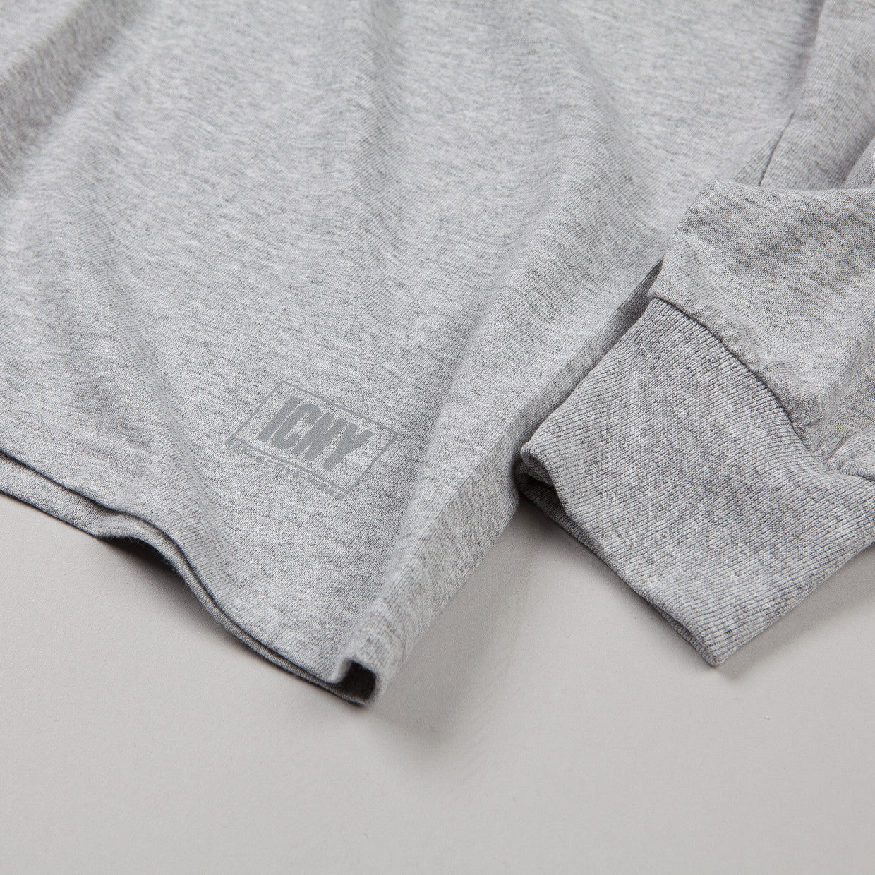 ICNY BMX L/S T Shirt Heather Grey