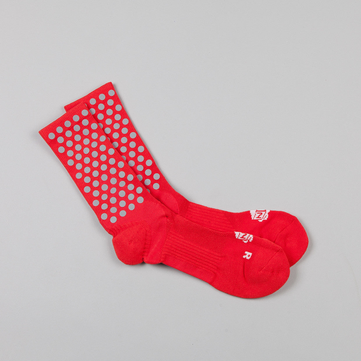 ICNY Half Calf Dot Socks Red