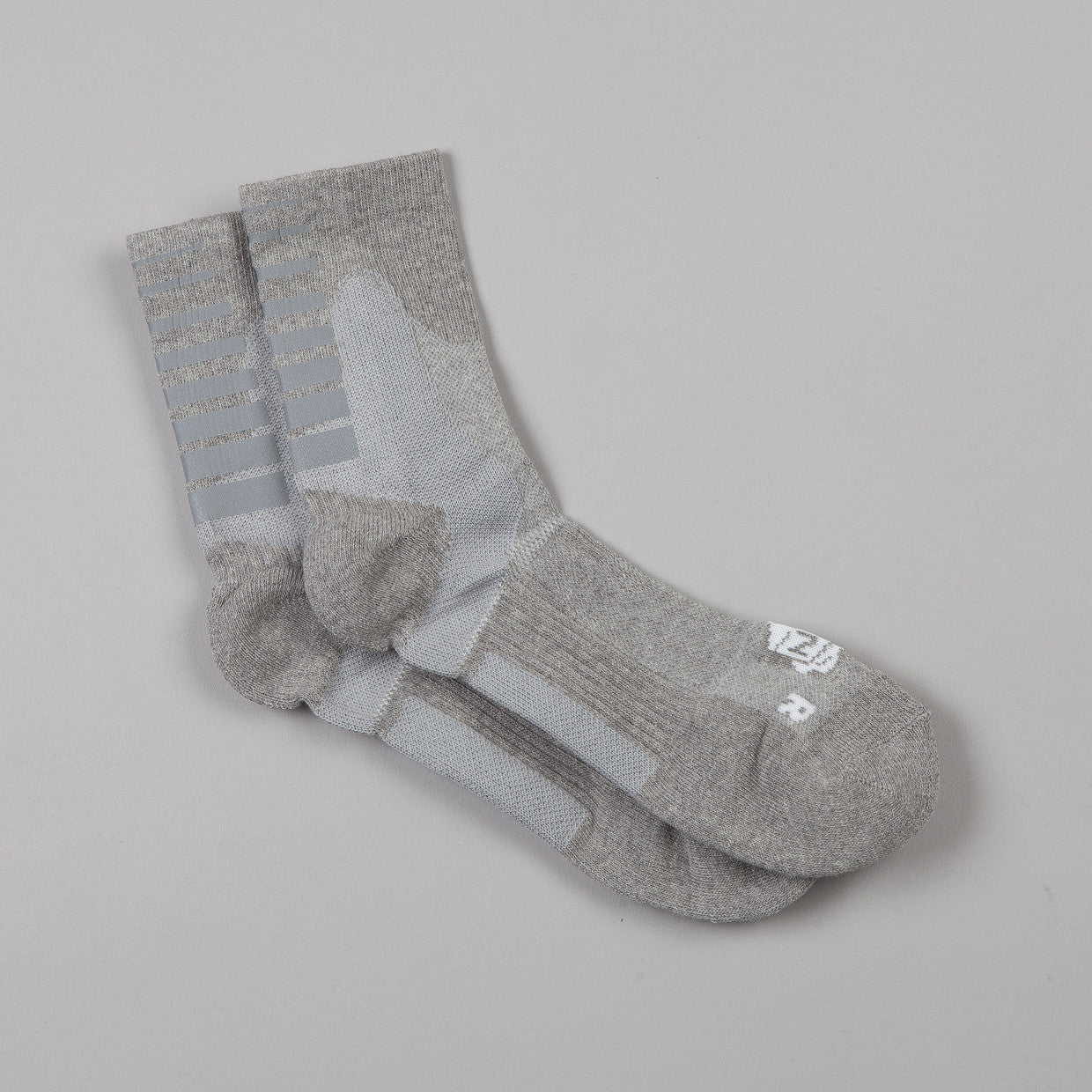 ICNY Quarter Ankle Gradient Socks Heather Grey