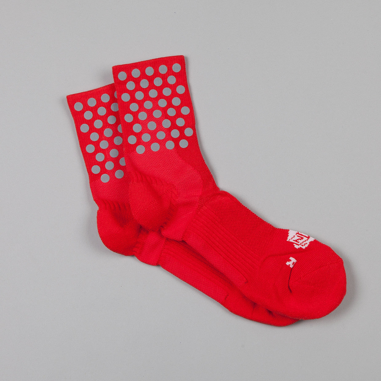 ICNY Quarter Ankle Dot Socks Red