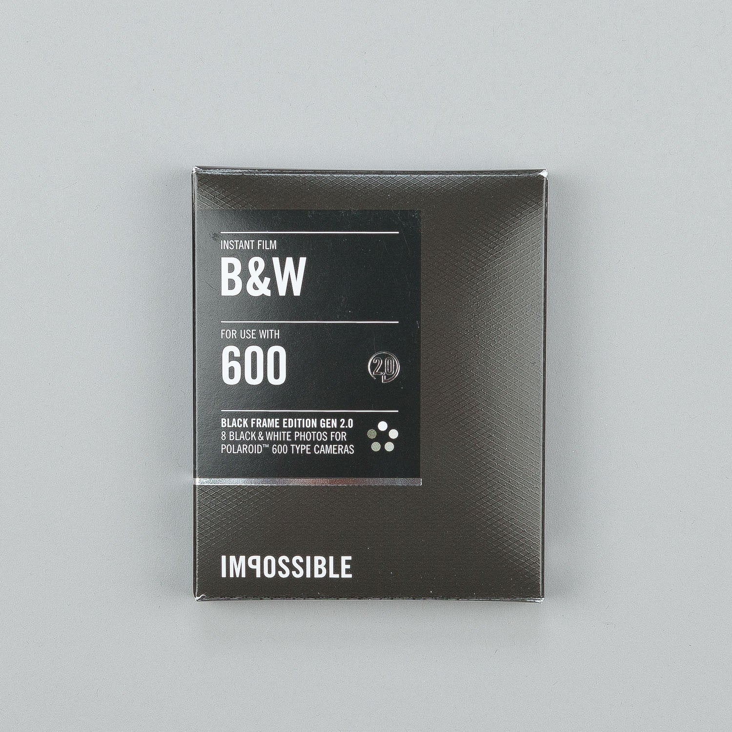 Impossible Black & White Film for Polaroid 600 Type Cameras 2.0