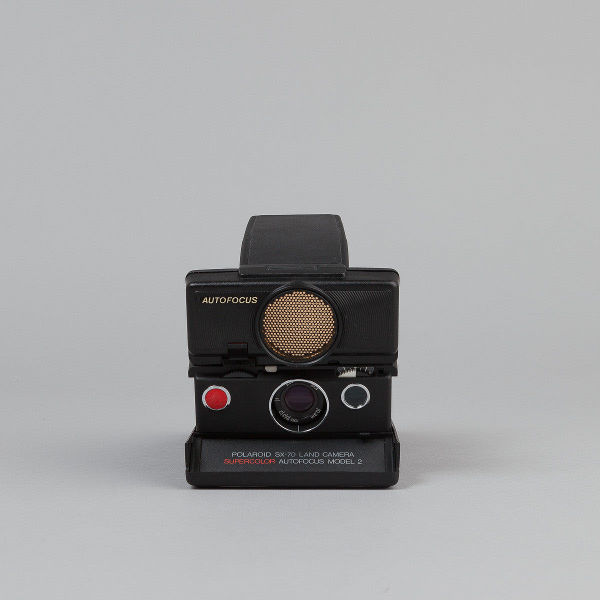 Impossible Polaroid SX-70 Camera - Sonar - Black / Black Skin