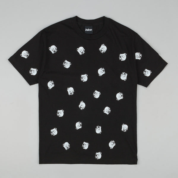 Indcsn Allover Bulldog T Shirt Black