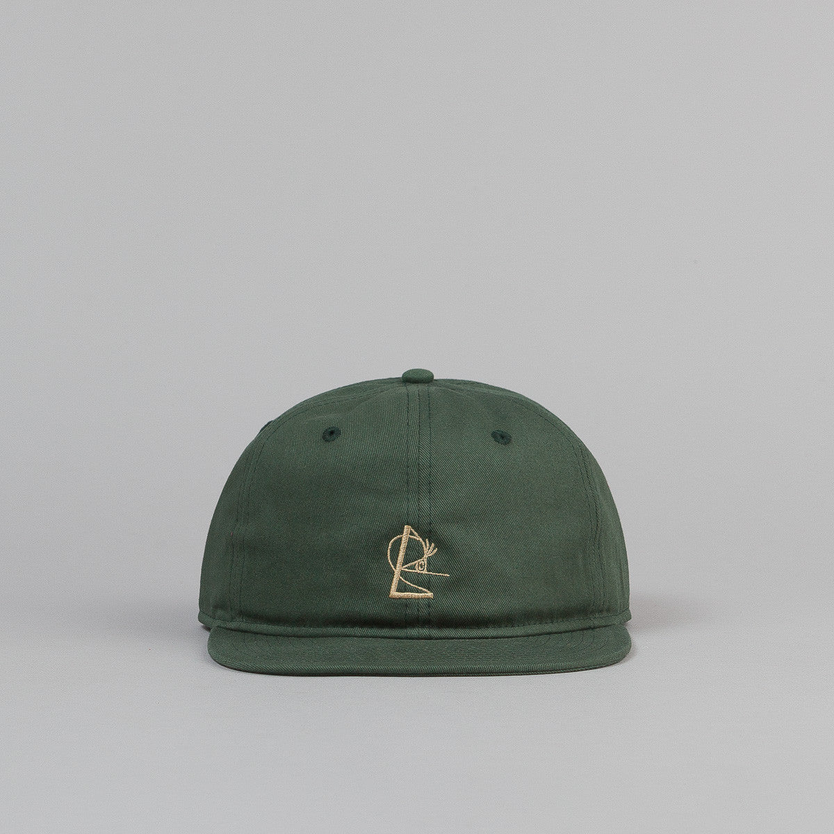 Isle Embroidered Cap - Forest Green