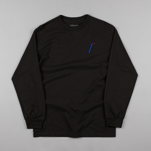 Isle I Logo Embroidered Long Sleeve T-Shirt - Black