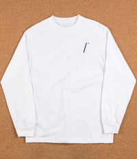 Isle I Logo Embroidered Long Sleeve T-Shirt - White