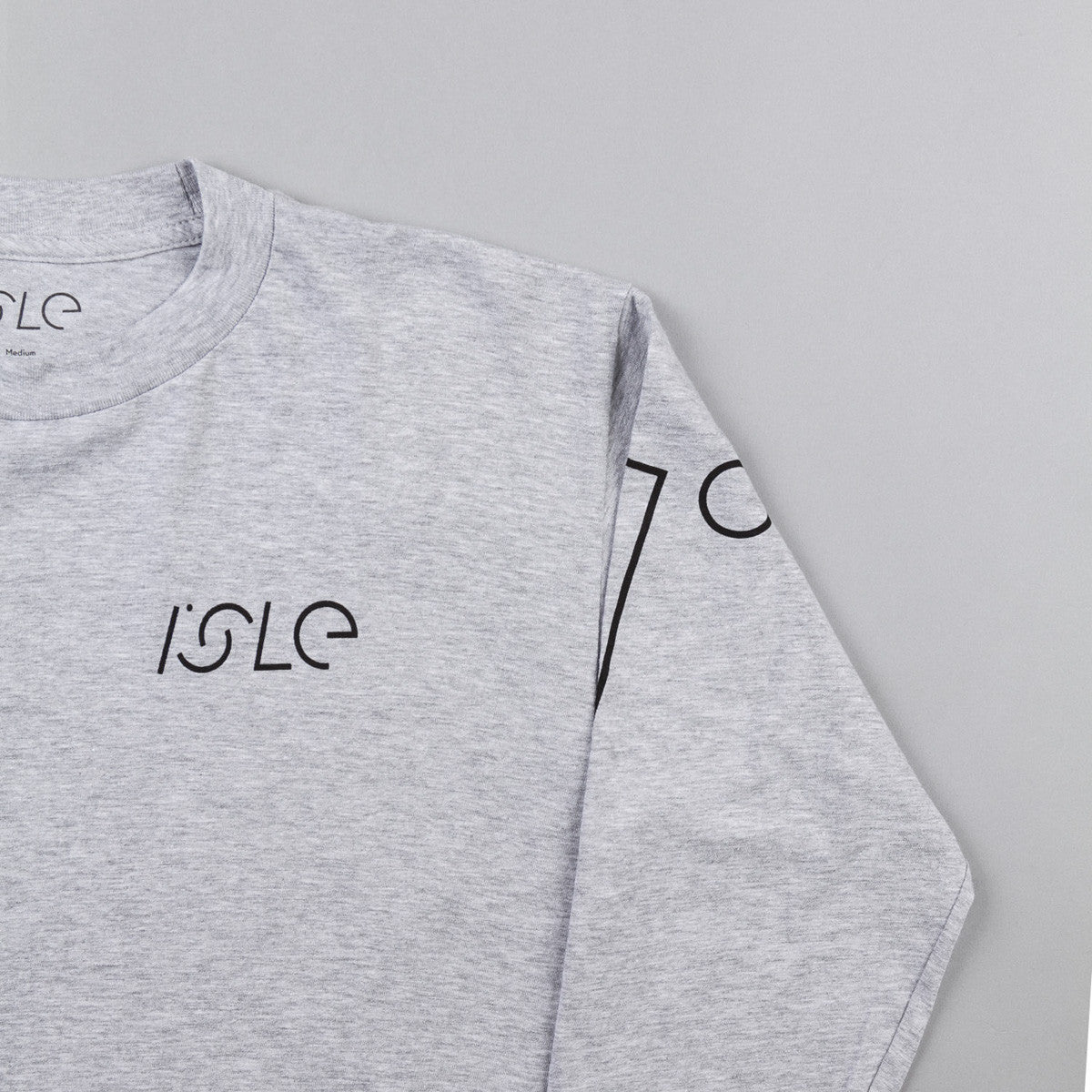 Isle I Logo Long Sleeve T-Shirt - Athletic Heather
