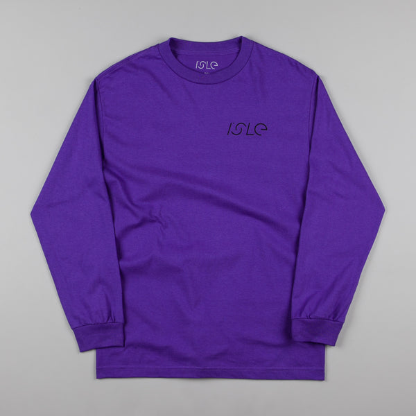 Isle Jigsaw Long Sleeve T-Shirt - Purple
