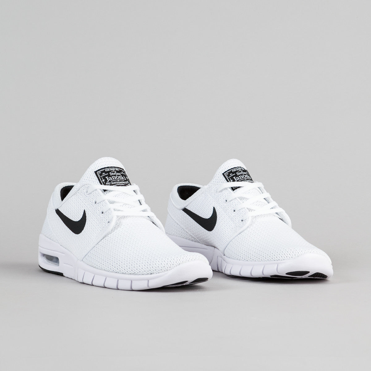 nike sb stefan janoski max shoes white black flatspot. Black Bedroom Furniture Sets. Home Design Ideas