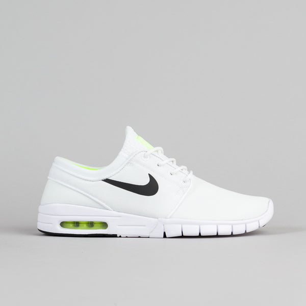 Nike SB Stefan Janoski Max Shoes - White / Black - Volt - White