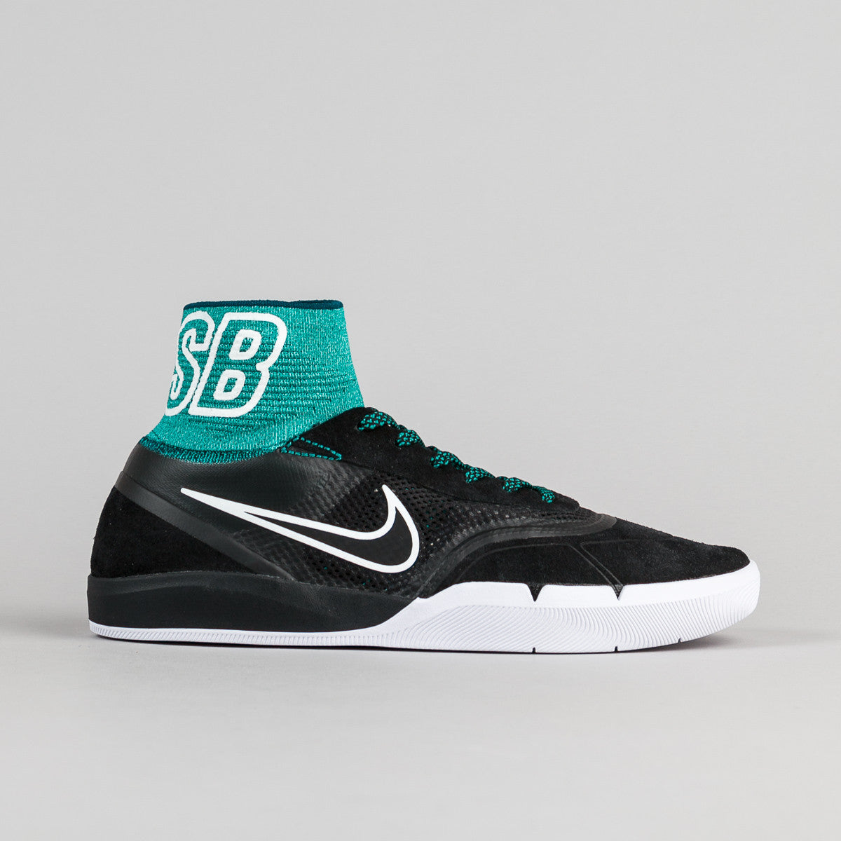Nike SB Koston 3 Hyperfeel Shoes - Black / Black - Rio Teal - White | Flatspot