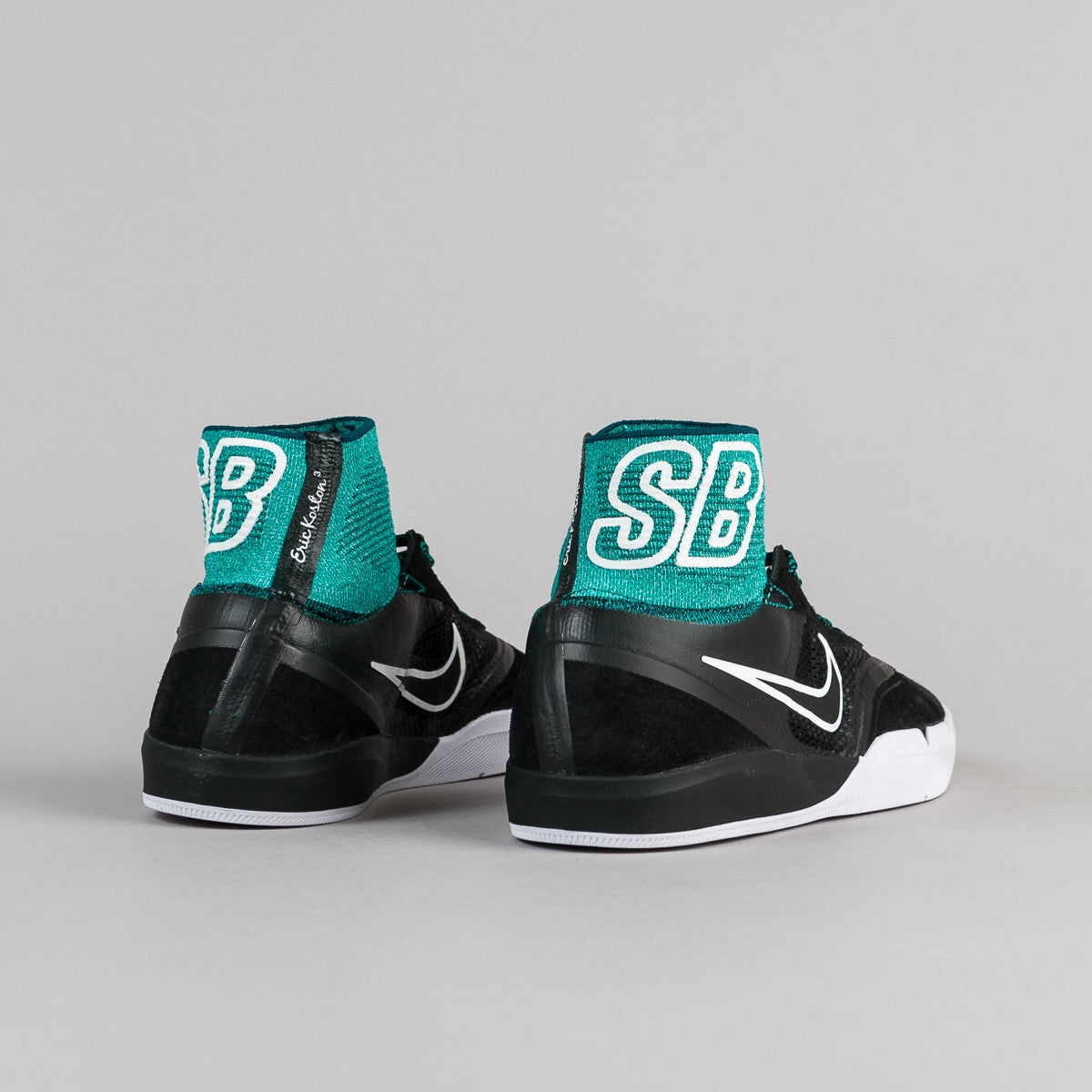 Nike SB Hyperfeel Koston 3 Shoes - Black / Black - Rio Teal - White