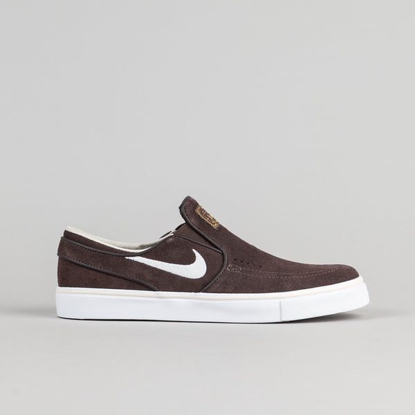 Nike SB Stefan Janoski Slip On Shoes - Cappuccino / Snowdrift - White - Metallic Gold