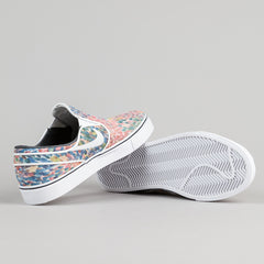 Nike SB Stefan Janoski Premium Slip On Shoes - White / Black - White