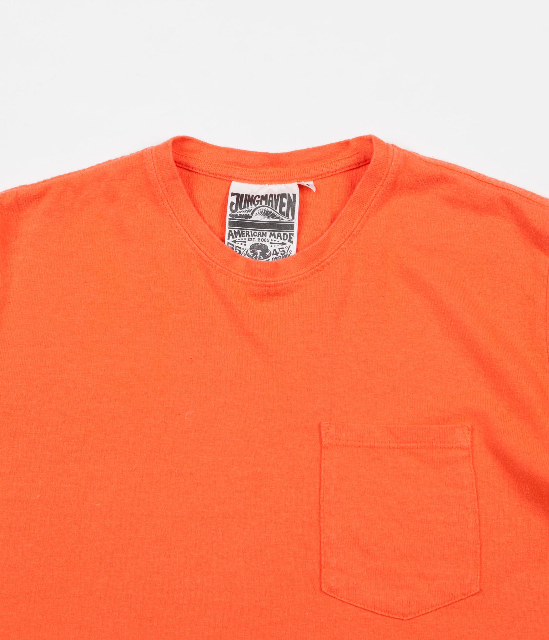 Jungmaven Baja Hemp Pocket T-Shirt - Pink Salmon