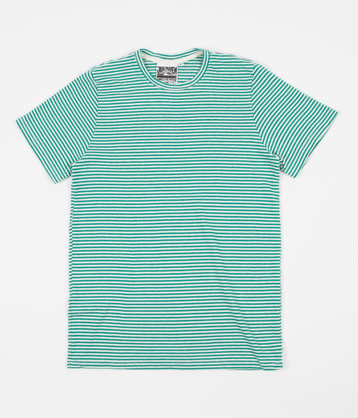 Jungmaven Yarn Dyed T-Shirt - Basil Green Stripe