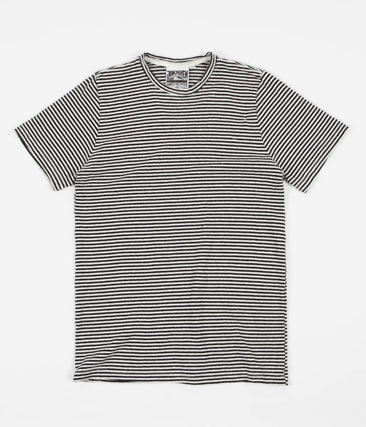 Jungmaven Yarn Dyed T-Shirt - Black Stripe