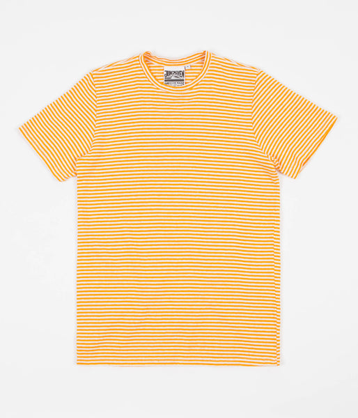 Jungmaven Yarn Dyed T-Shirt - Carrot Orange Stripe