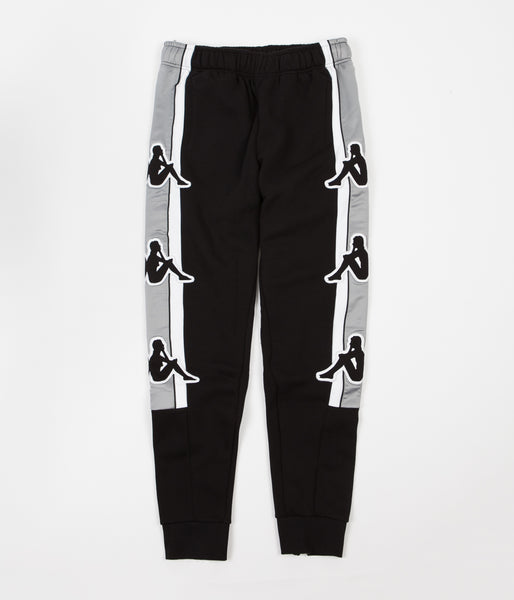 Kappa Kontroll Big Omini Sweatpants - Black / Grey Silver