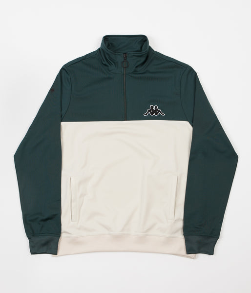 Kappa Kontroll Half Zip Jacket - Dark Green / Light Beige