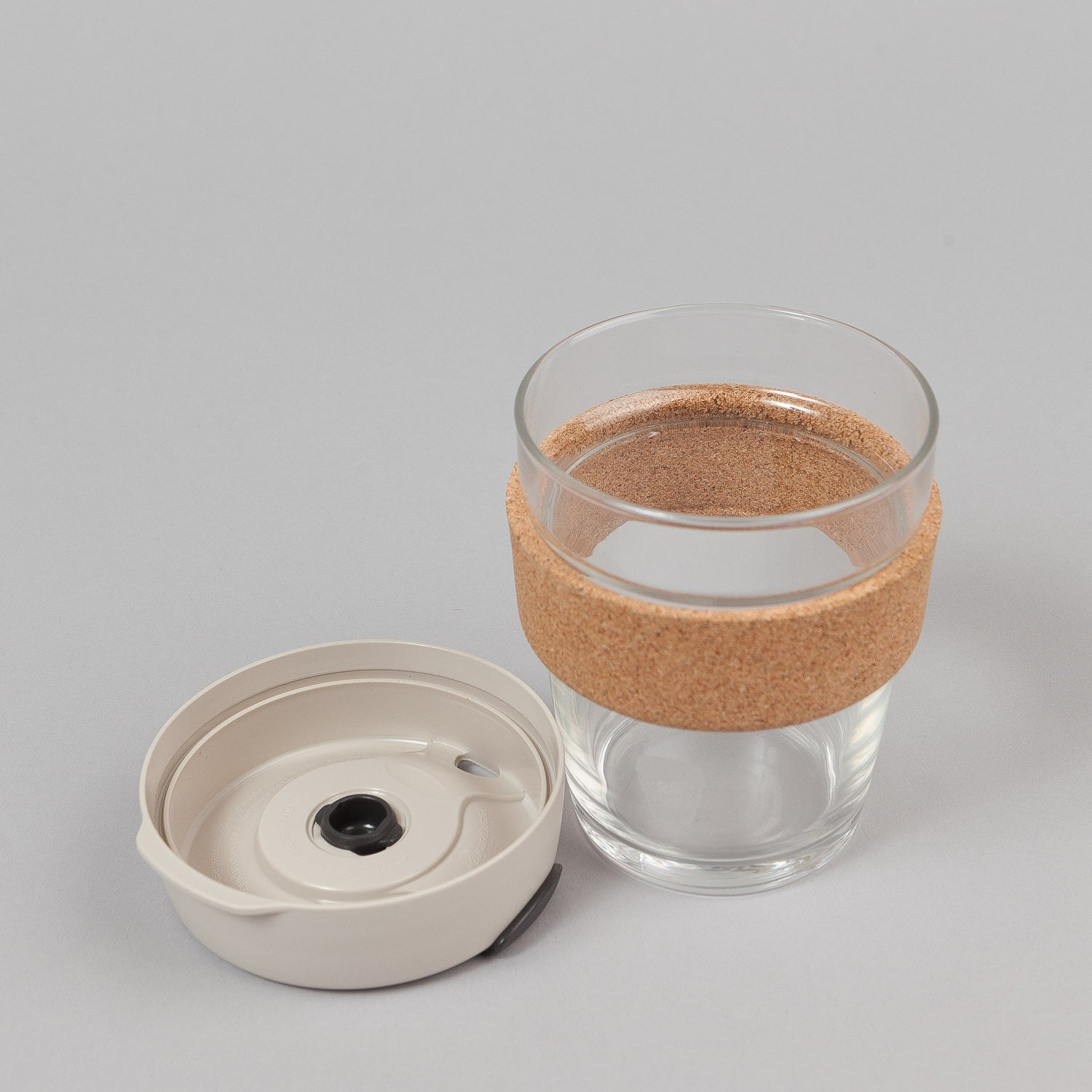 KeepCup Filter 12oz Medium Glass Coffee Cup - Latte / Cork