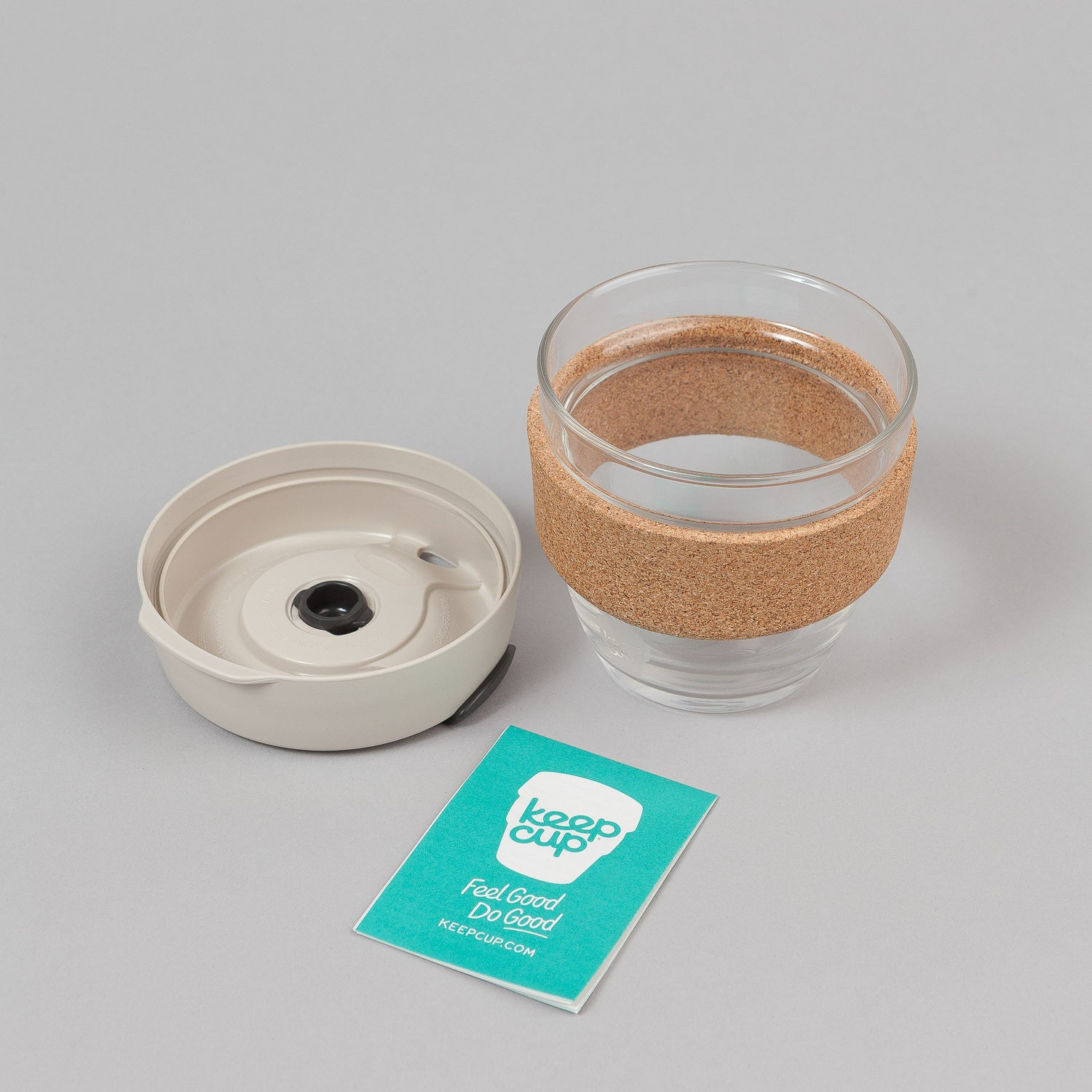 KeepCup Filter 8oz Small Glass Coffee Cup - Latte / Cork