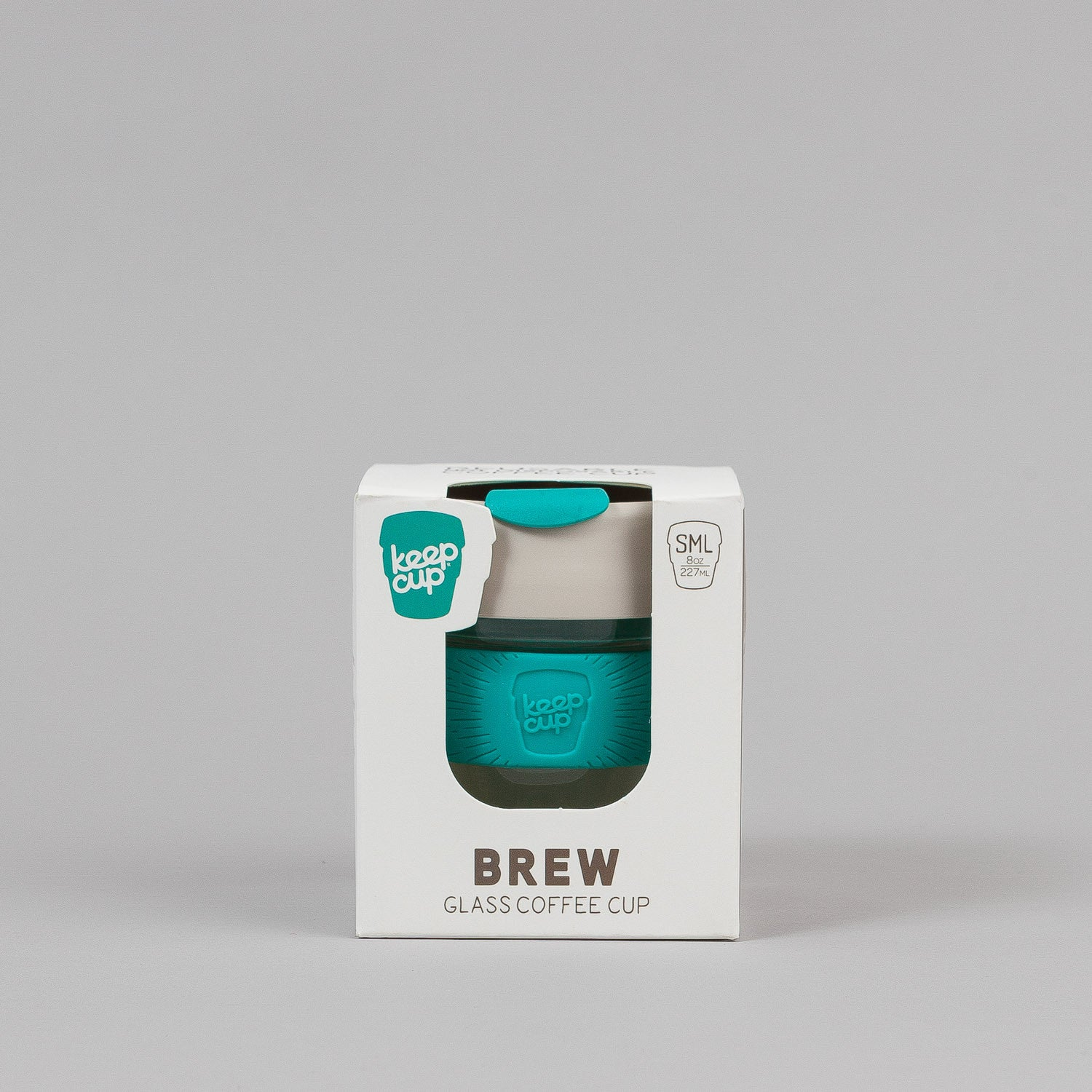 KeepCup Green 8oz Small Glass Coffee Cup