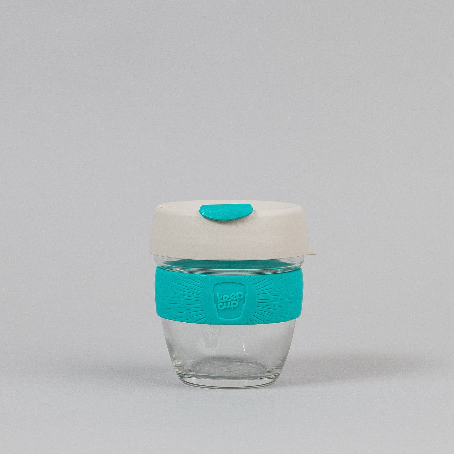 KeepCup Green 8oz Small Glass Coffee Cup - Turquoise Green