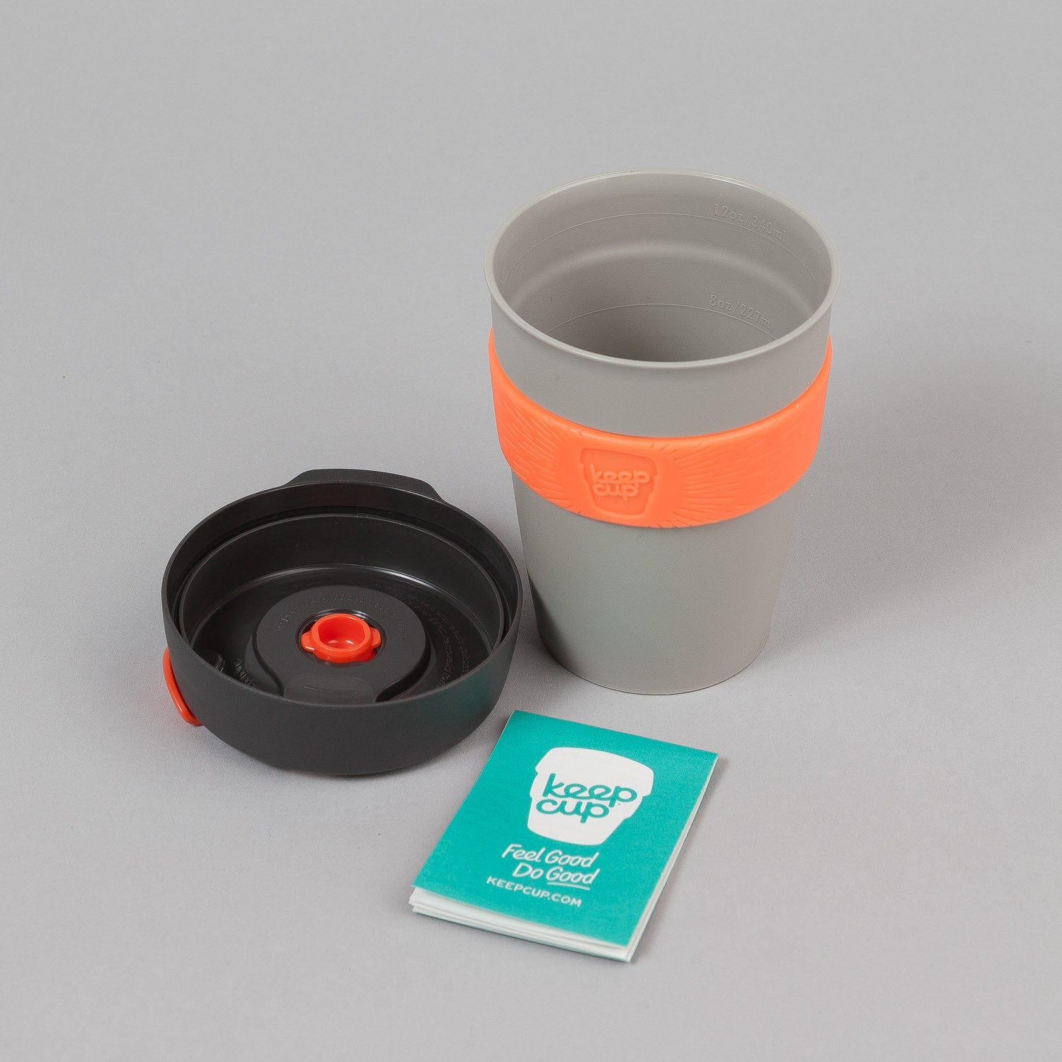 KeepCup Pandora 12oz Reusable Coffee Cup - Warm Grey / Soft Charcoal