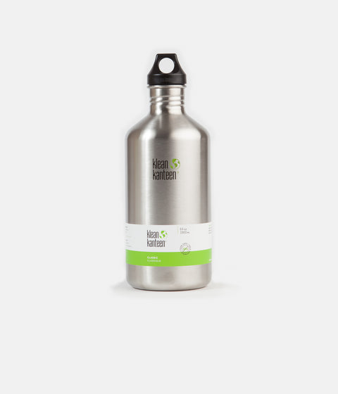 Klean Kanteen Classic 1900ml Flask - Brushed Stainless