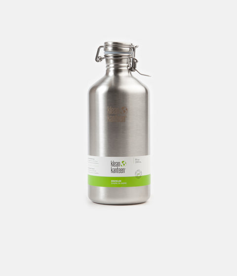 Klean Kanteen Classic 1900ml Swing Lok Flask - Brushed Stainless