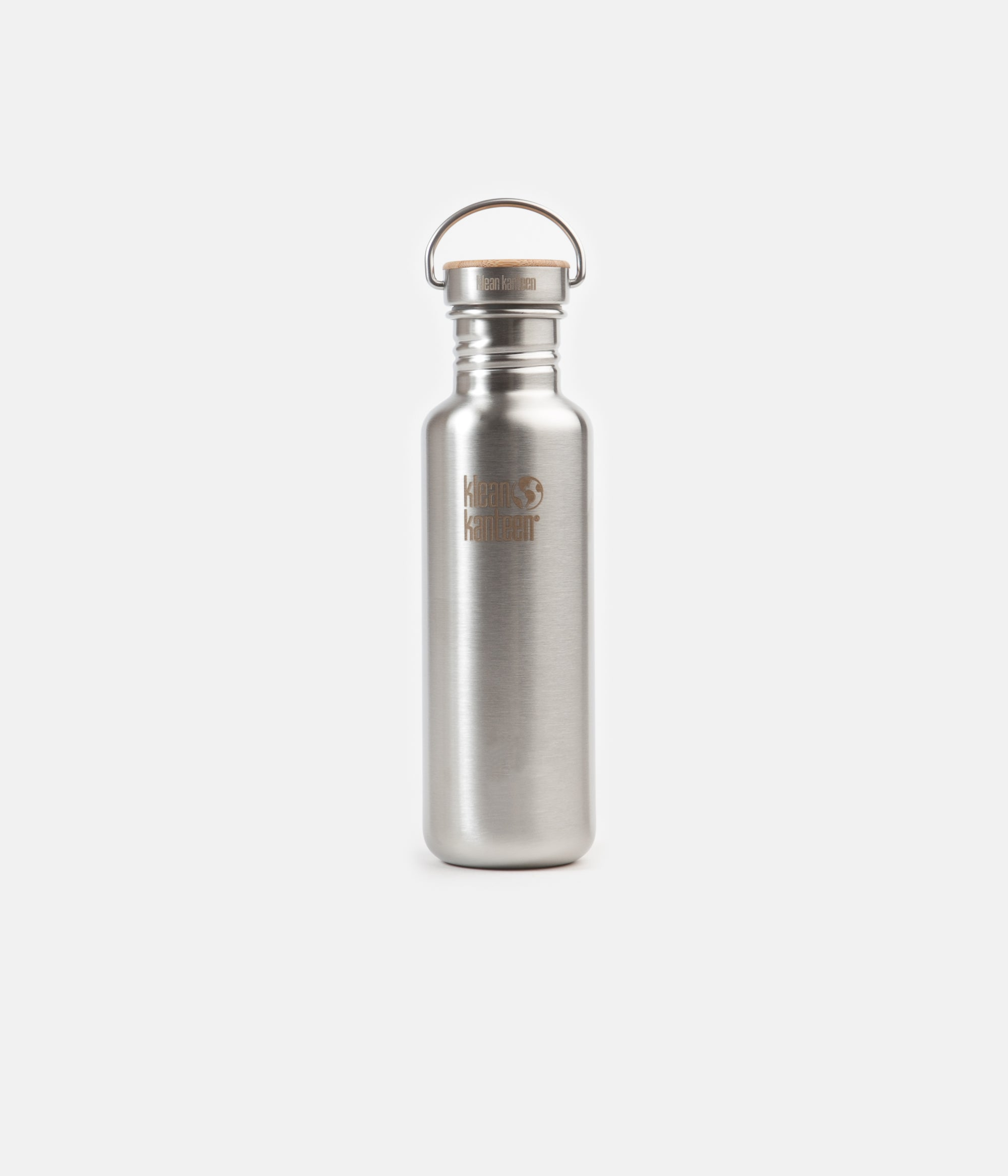 Klean Kanteen Classic 800ml Flask - Reflect Stainless / Bamboo