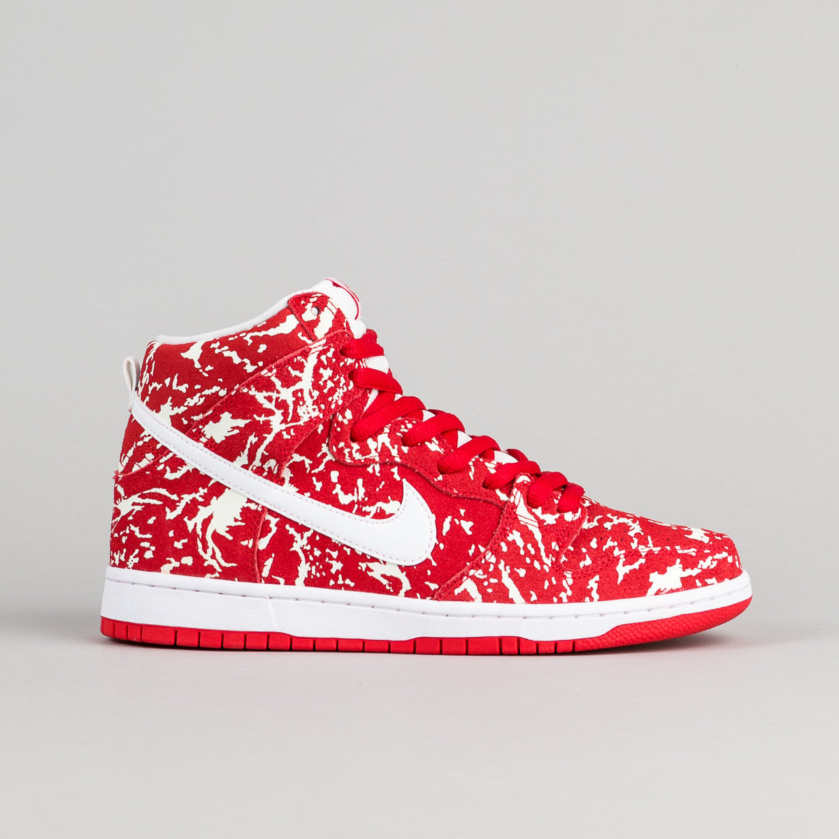 Nike SB Dunk High Premium 'Raw Meat' Shoes - Challenge Red / White