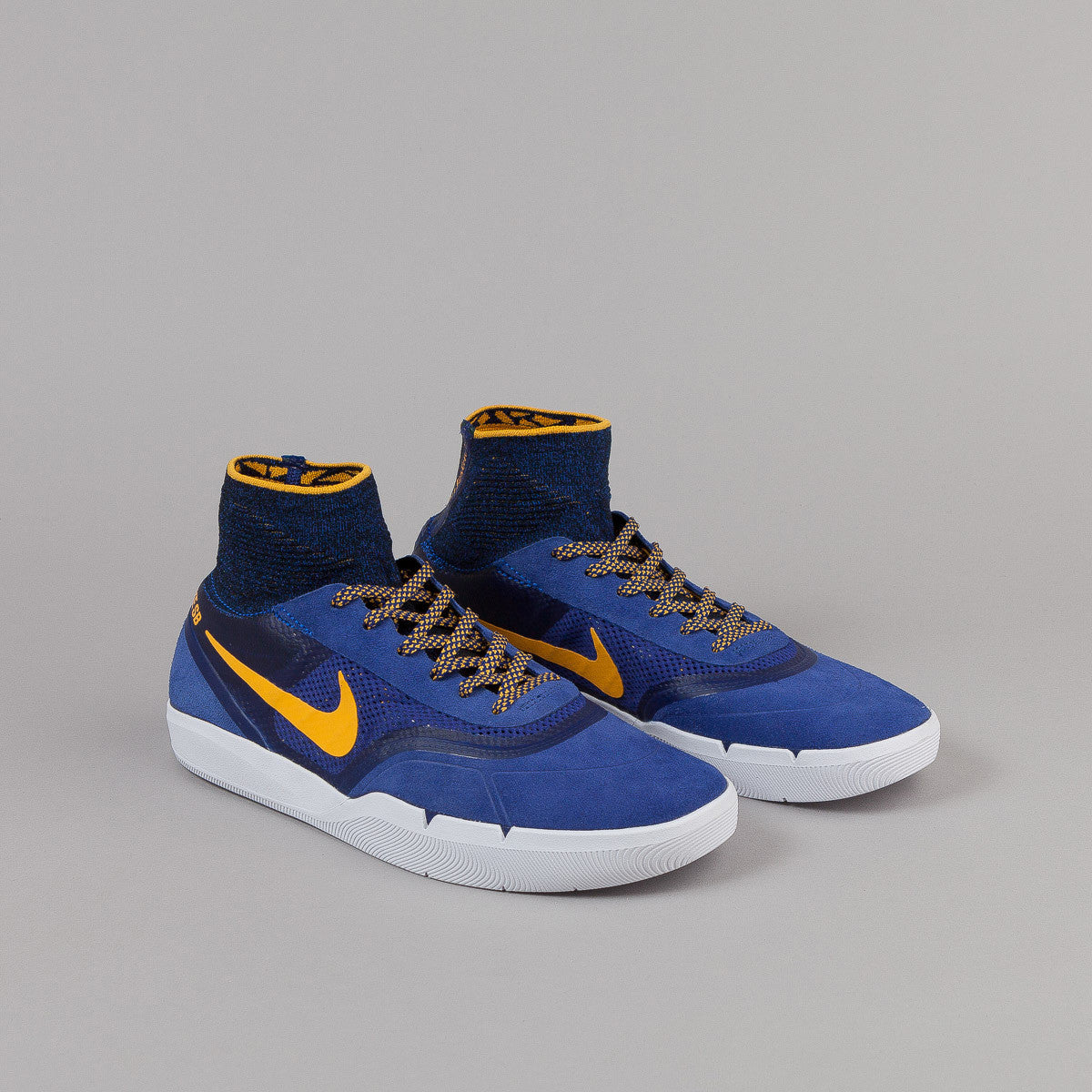 Nike SB Koston 3 Hyperfeel Shoes - Deep Royal Blue/University Gold - White