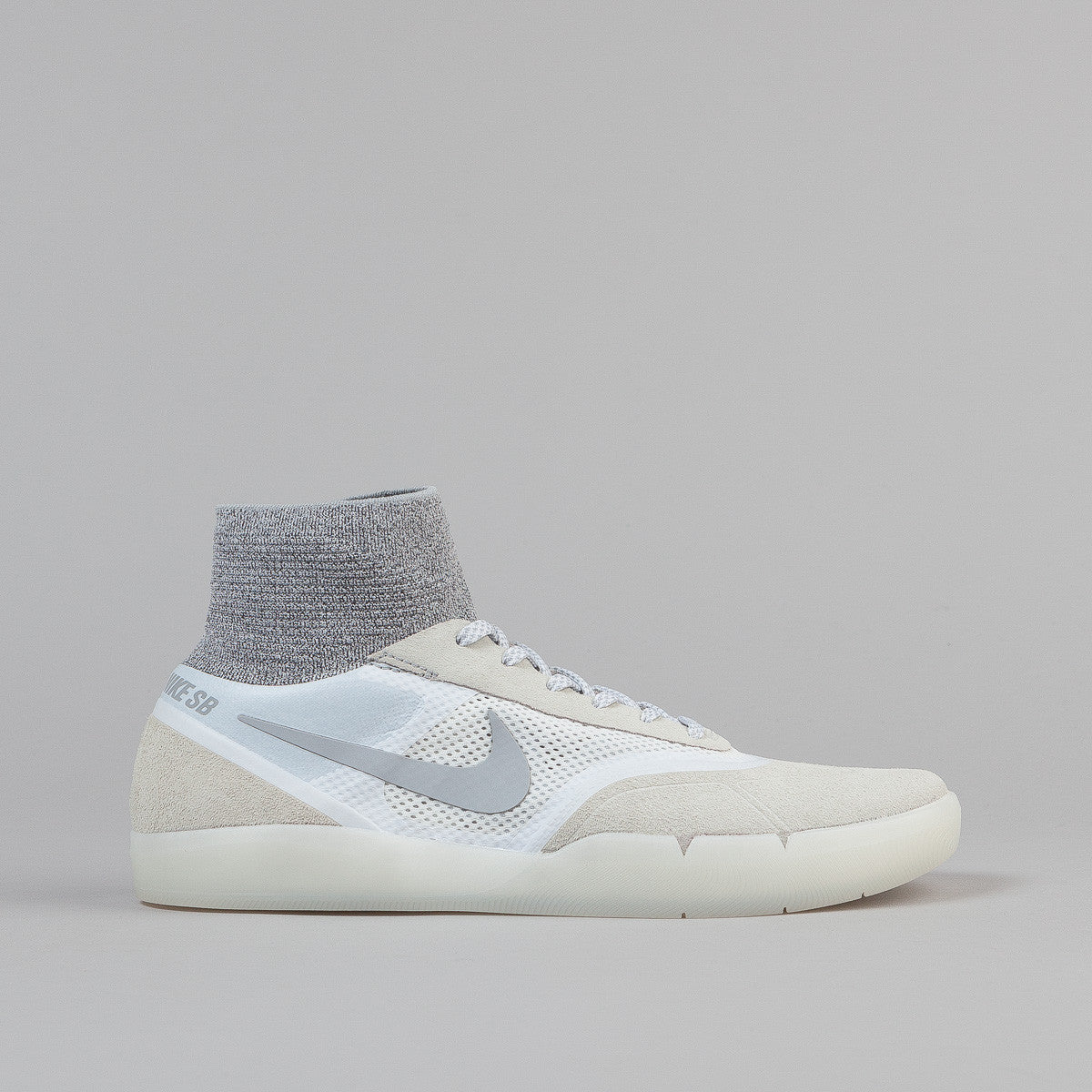 Nike SB Koston 3 Hyperfeel Shoes - Summit White/Wolf Grey - White | Flatspot