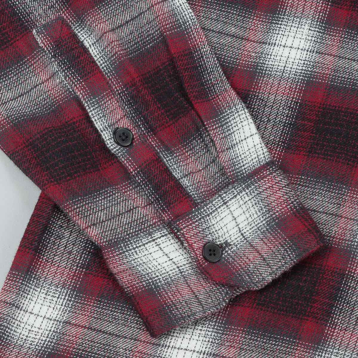Kr3w Ambush Long Sleeve Flannel Shirt - Black / Red