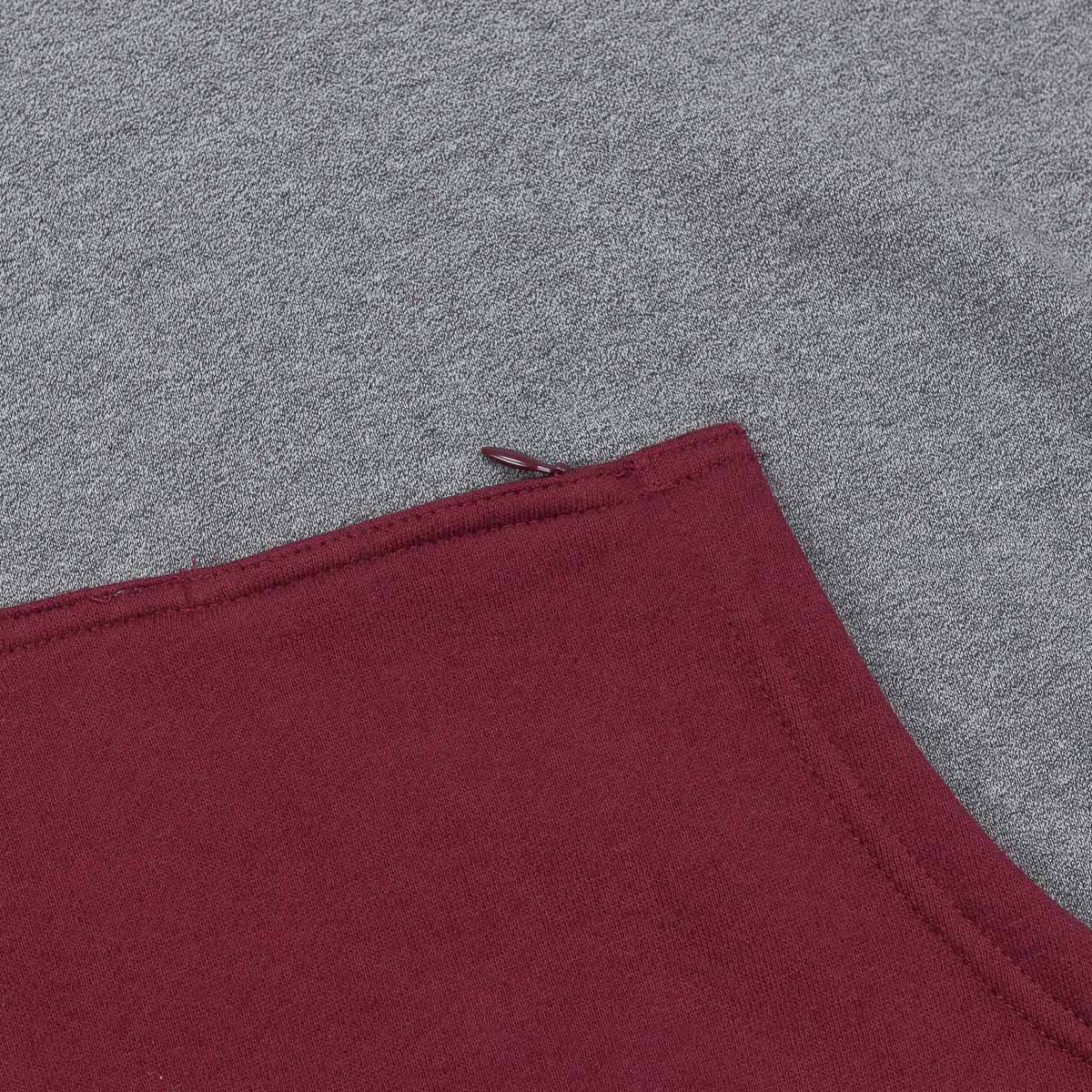 Kr3w Cyclone Hooded Sweatshirt - Charcoal Heather / Wine